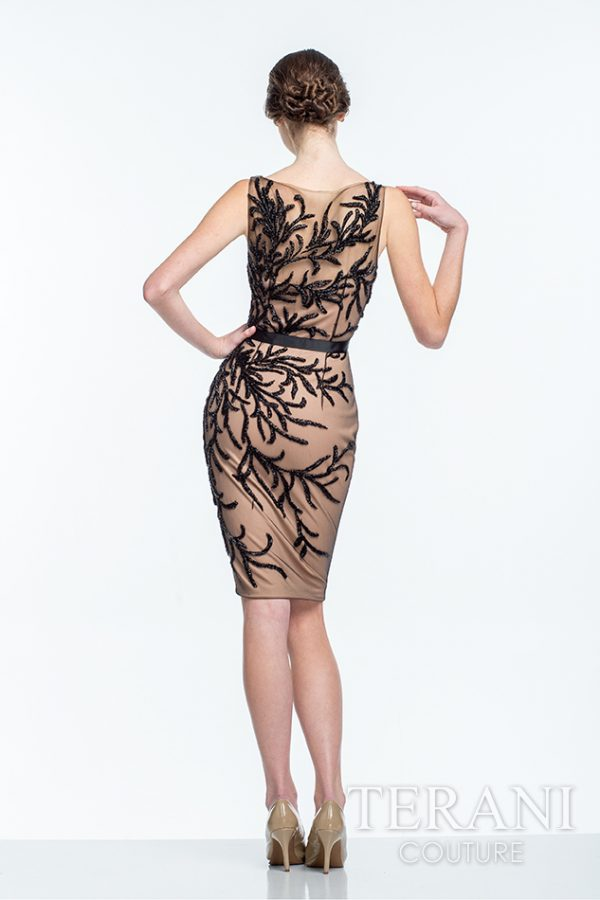 151C0455 Black Nude Back