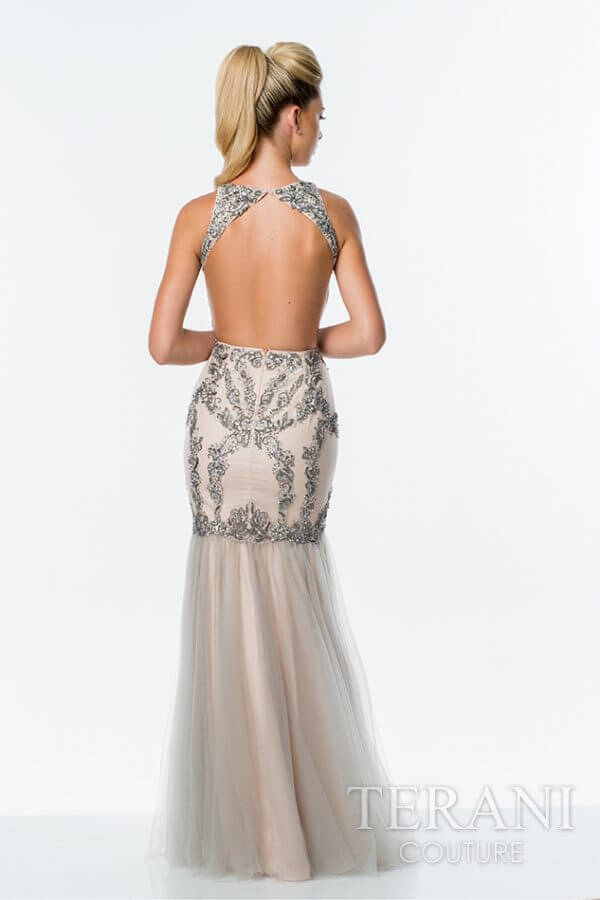 151P0115 Silver Nude Back