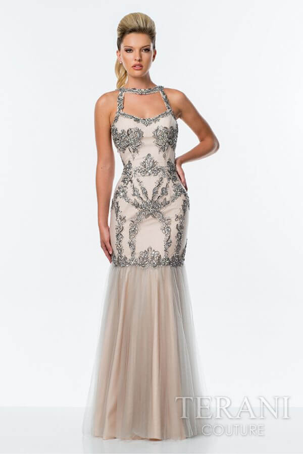 151P0115 Silver Nude Front