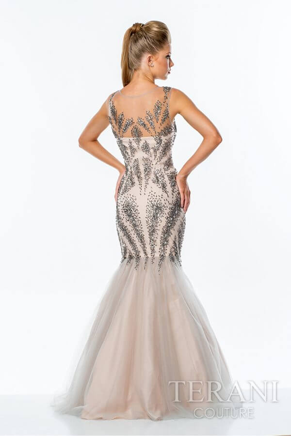 151P0129 Silver Nude Back