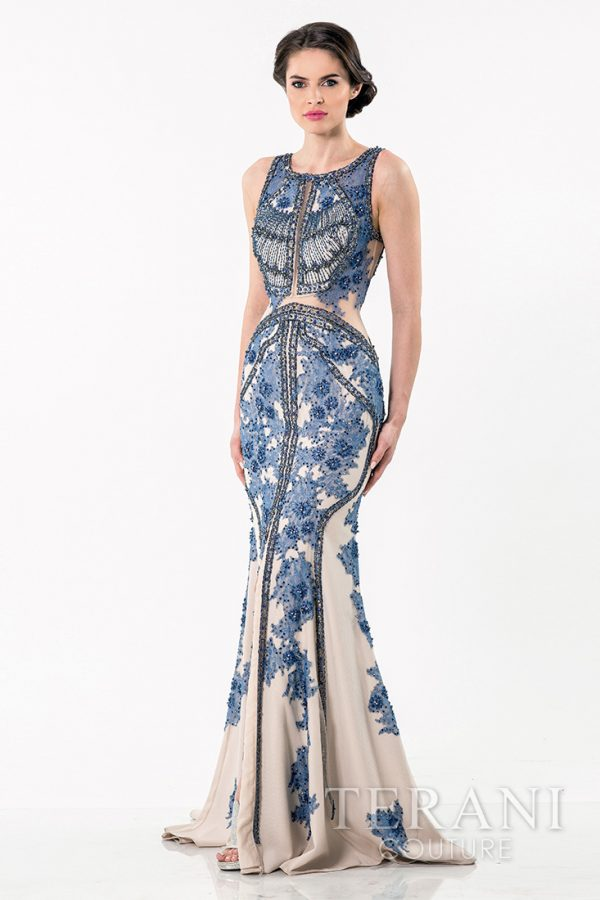 1521GL0787 Blue Nude Front