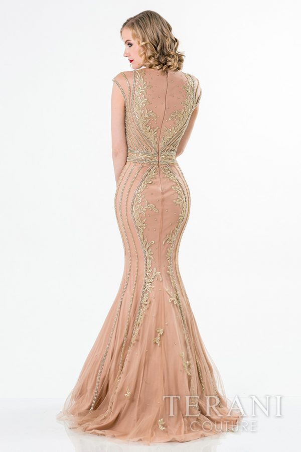 1521GL0789 Nude Gold Back