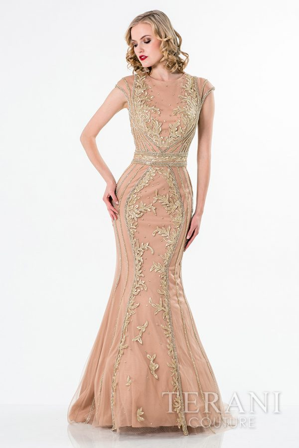 1521GL0789 Nude Gold Front