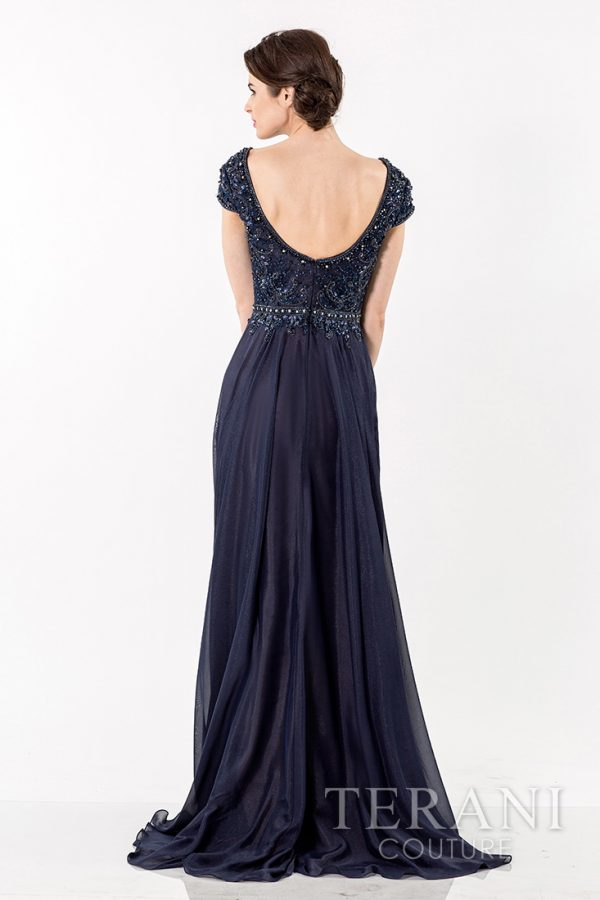 1521M0634 Navy Nude Back