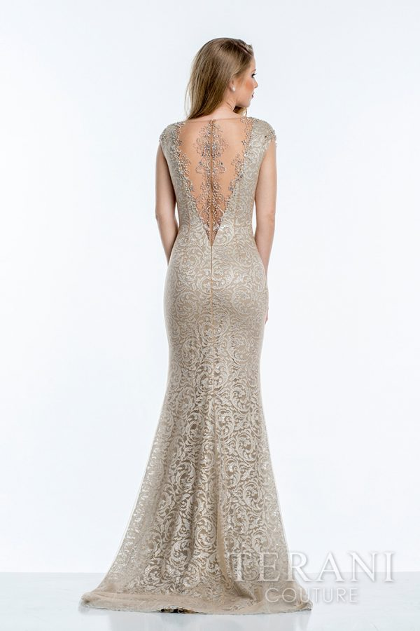 1523M0722 Nude Silver Back