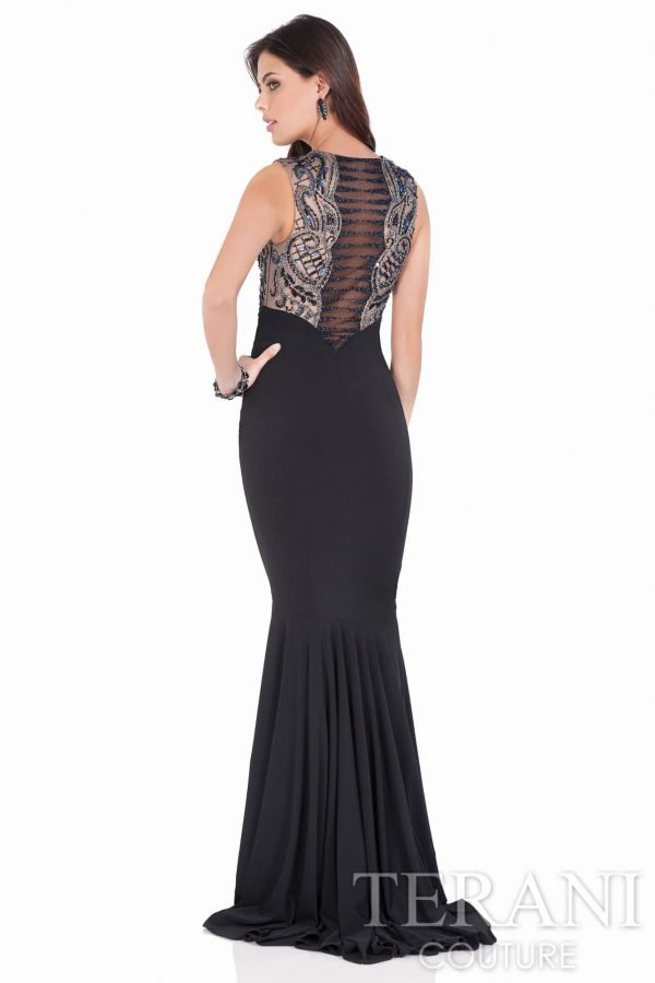1621E1470 Black Nude Back