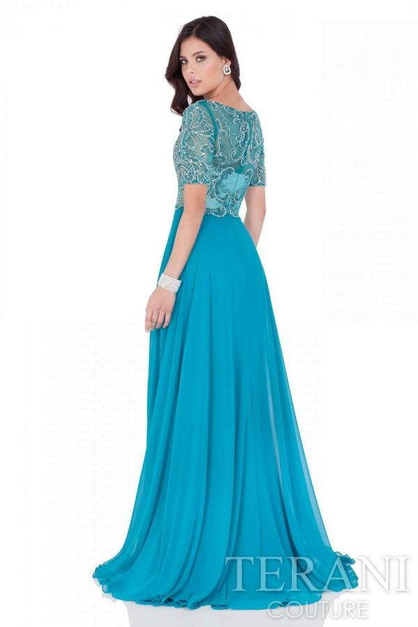 1621M1714 Teal Nude Back