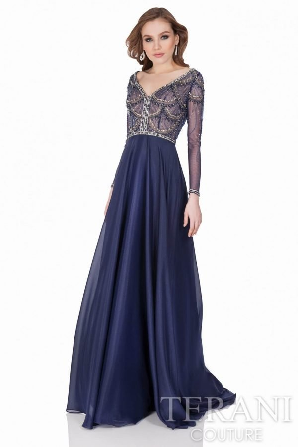 1621M1715 Navy Nude Front