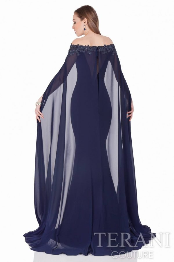 1623M2072 Navy Nude Back