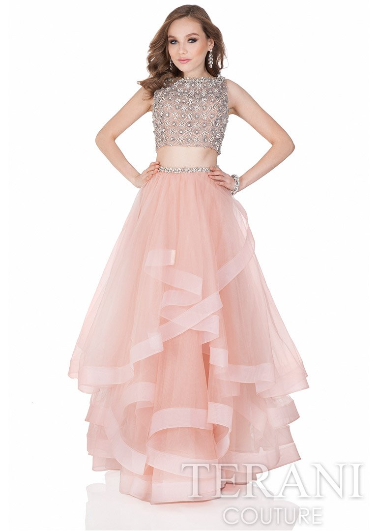 Terani Couture Prom Dress Pink