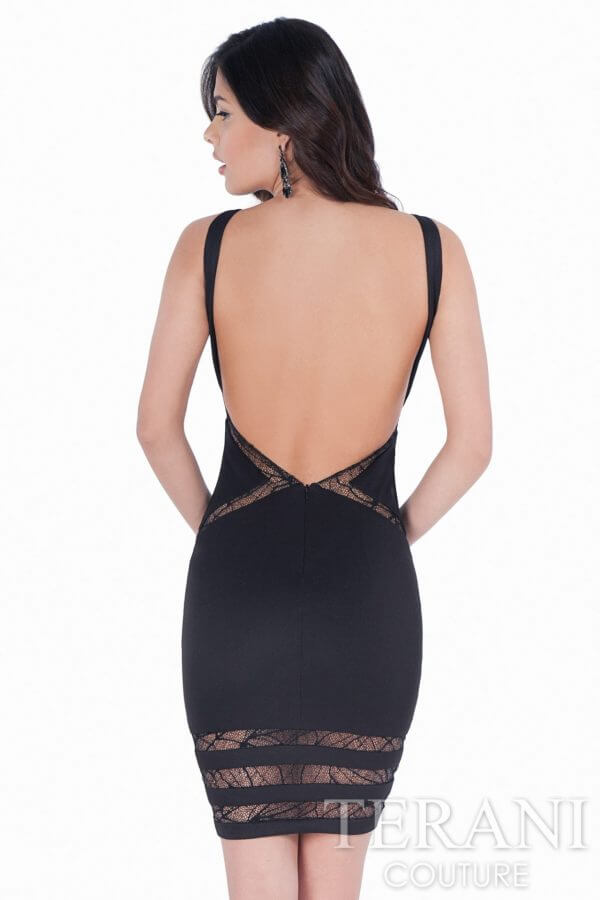 1621H1059 Black Nude Back