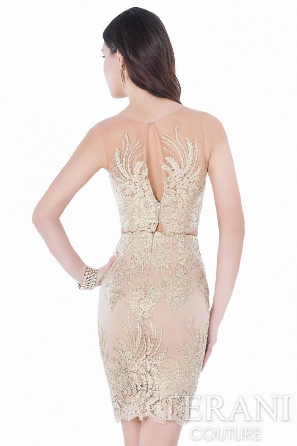 1622H1112 Gold Nude Back