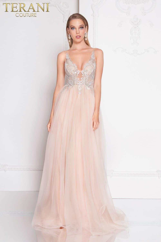 70d843d644 Plunging Neckline Beaded Fairytale Prom Dress – 1811P5206
