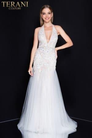 Deep V Pink Prom Dress – 1811P5238X