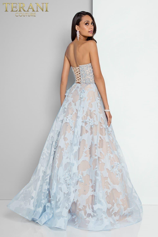 Beaded Sweetheart Neckline Sheer Ball Gown – 1811P5813