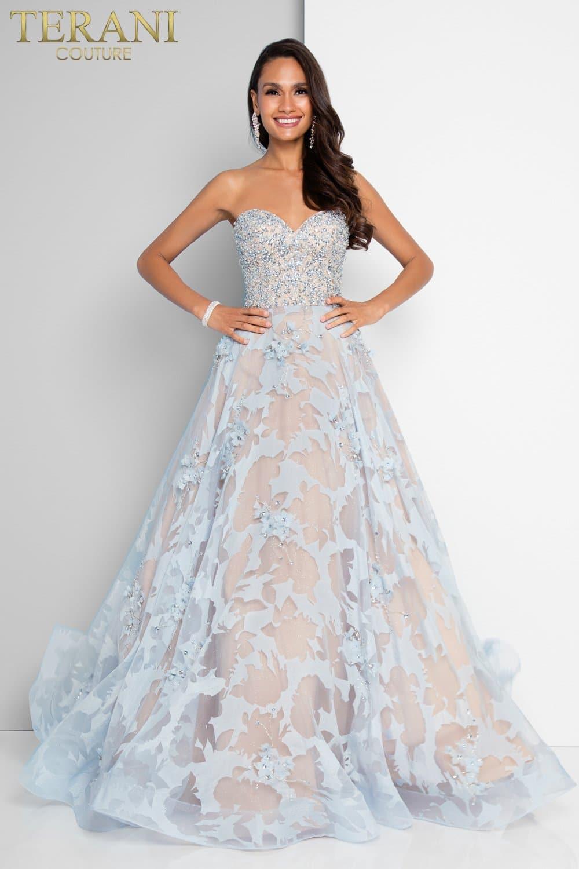 5c12e5512e0fa Beaded Sweetheart Neckline Sheer Ball Gown – 1811P5813