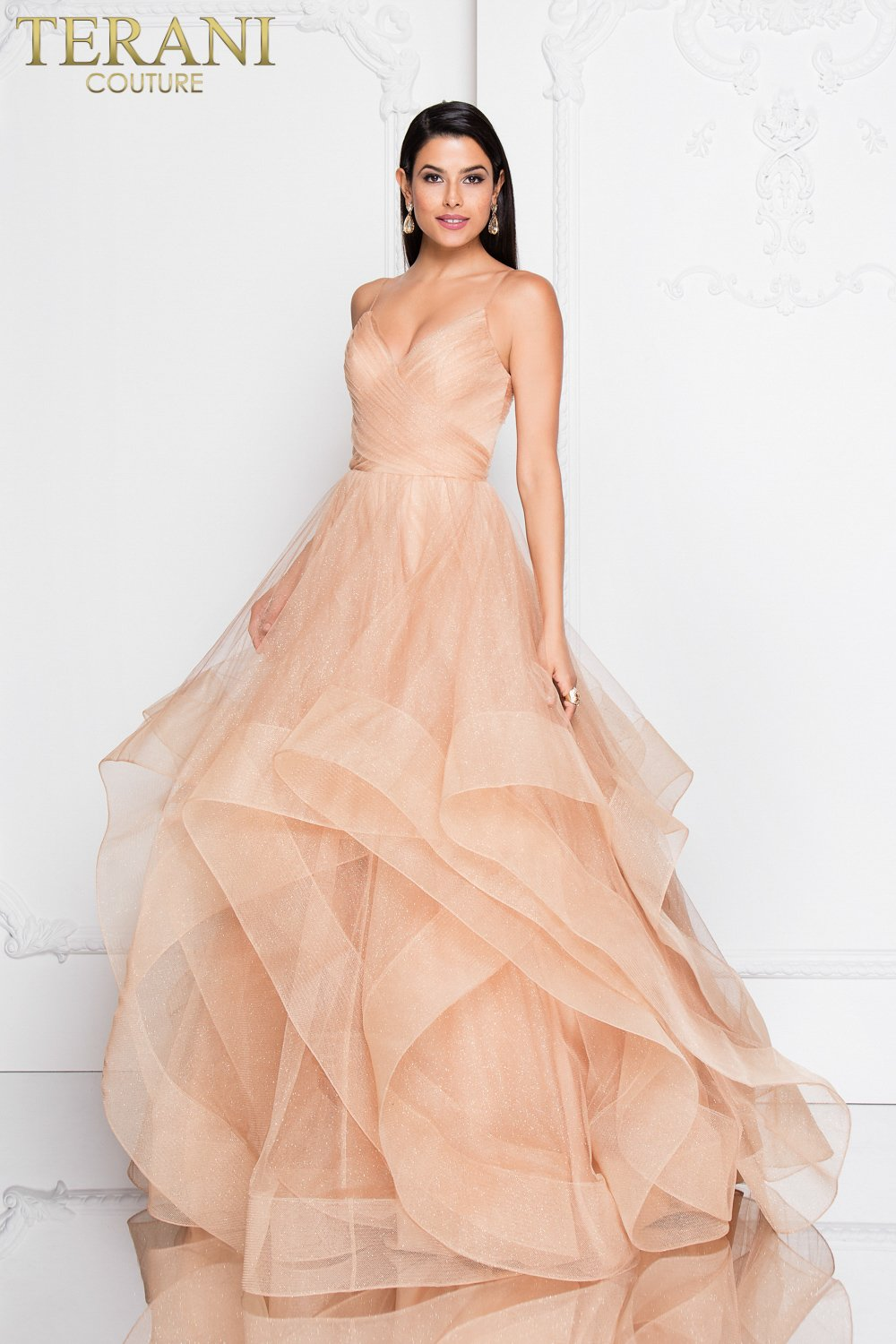 Peach Prom Dress 1811p5849 # Dressing Kitea Maroc Photos