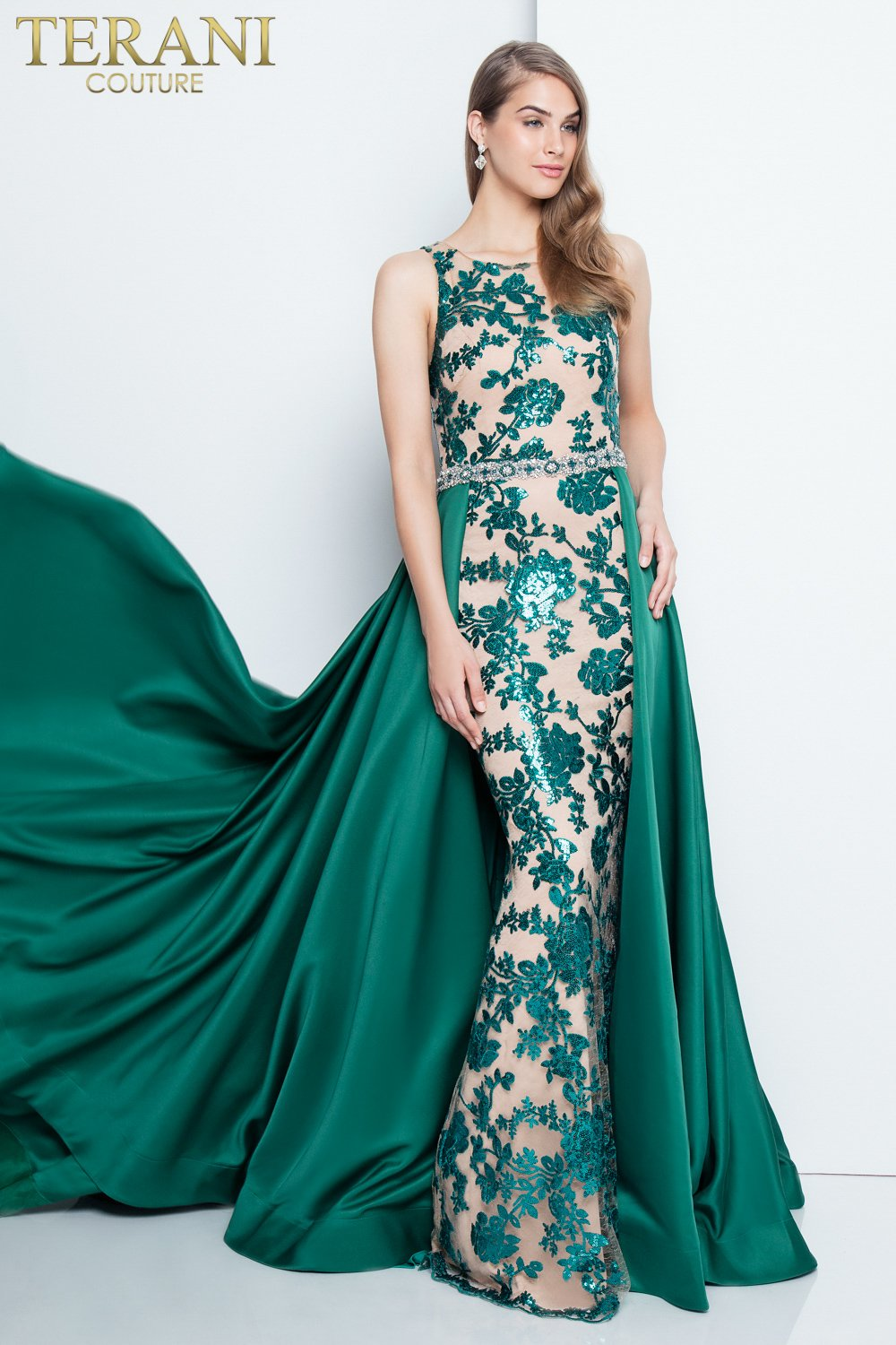 Embellished emerald prom dress 1812p5387 for Places to buy wedding dresses near me