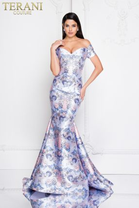bfcf2752055 Style  Off the Shoulder Embellished Mermaid Prom Dress – 1812P5400