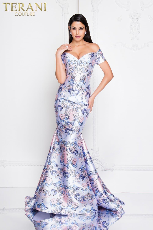 3139bd54fff42 Off the Shoulder Embellished Mermaid Prom Dress – 1812P5400