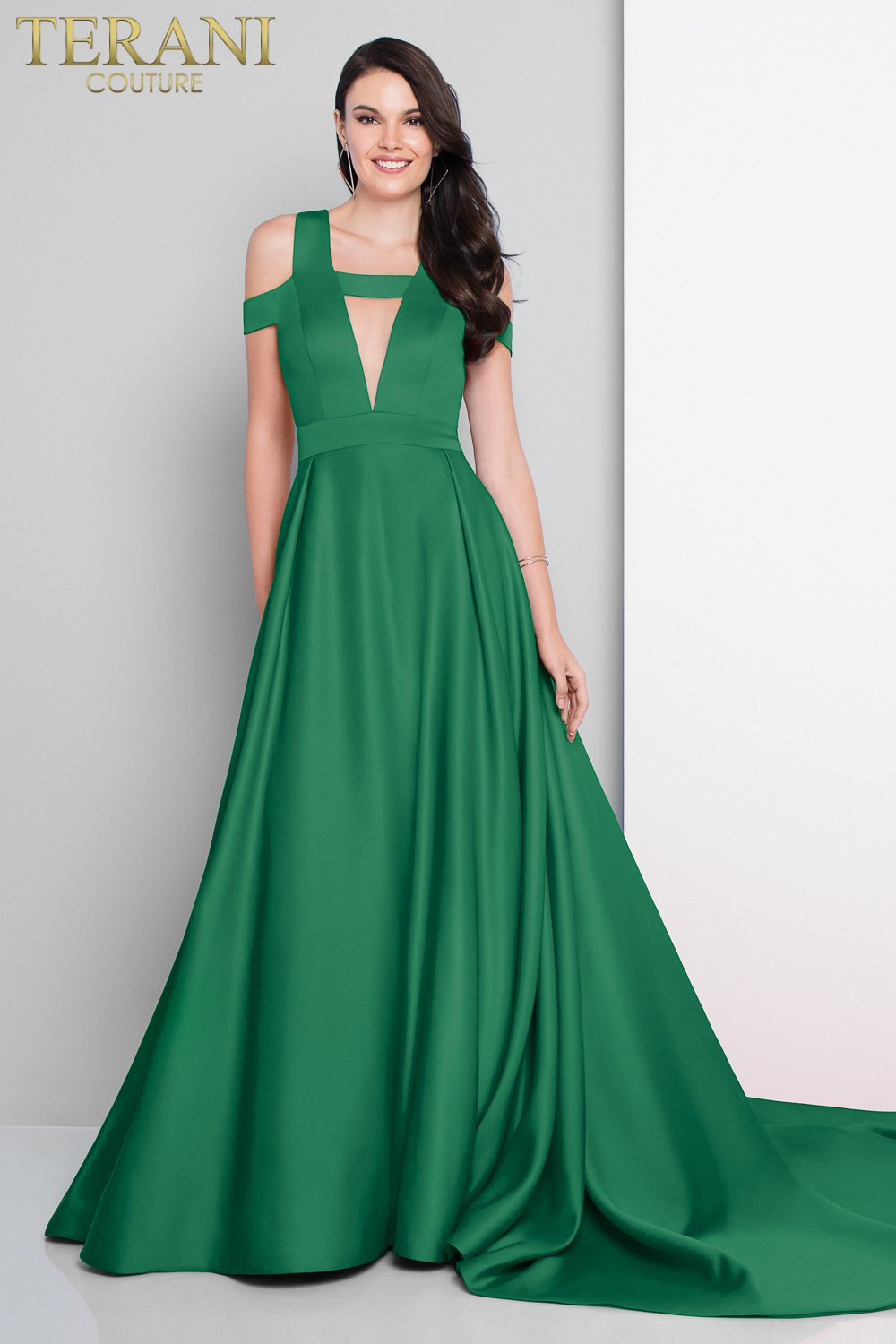 Long Bustle Train Off the Shoulder Ball Gown - 1812P5882X
