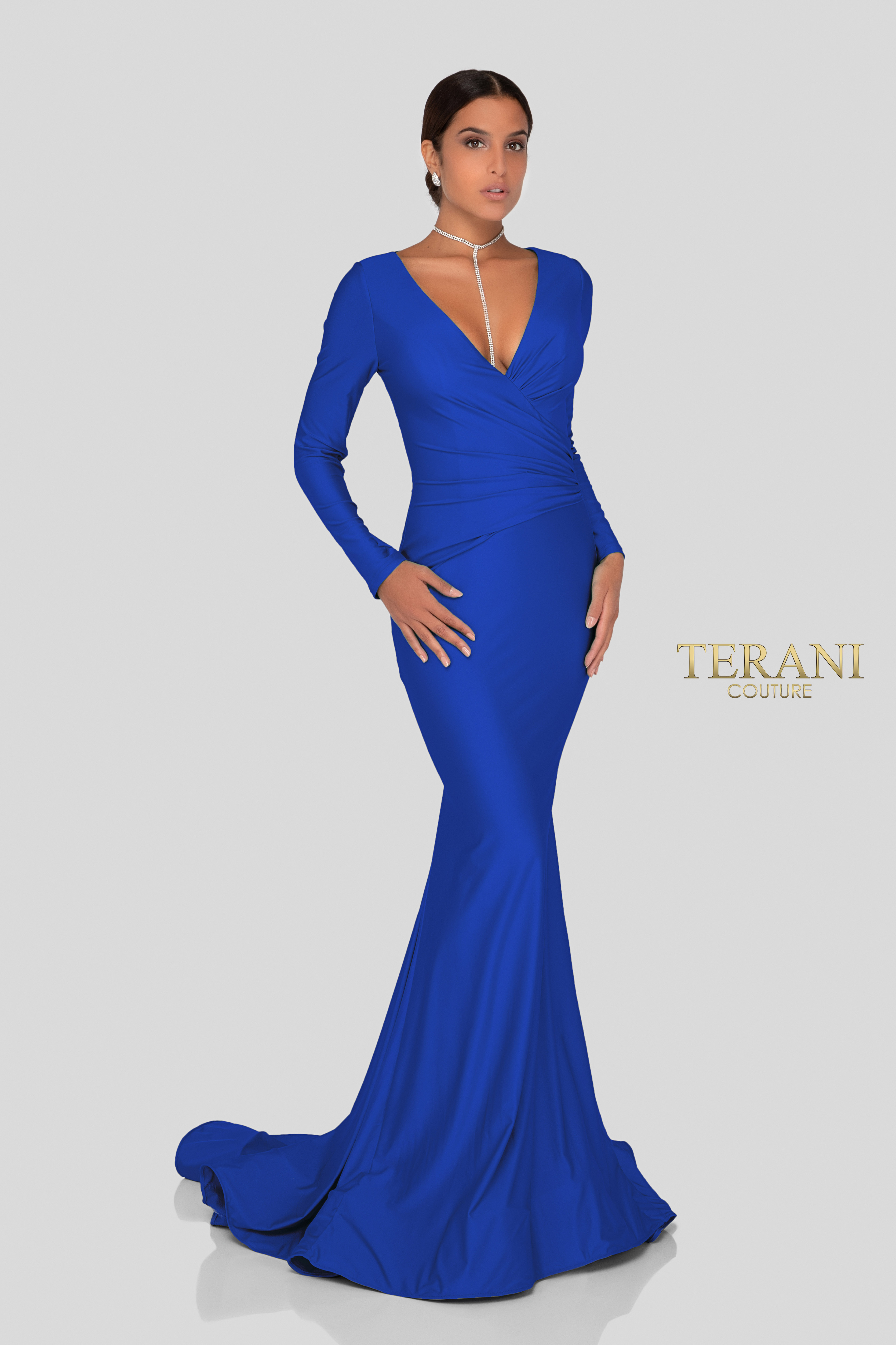 860ab239cc6f Terani Couture Long Sleeve Gown
