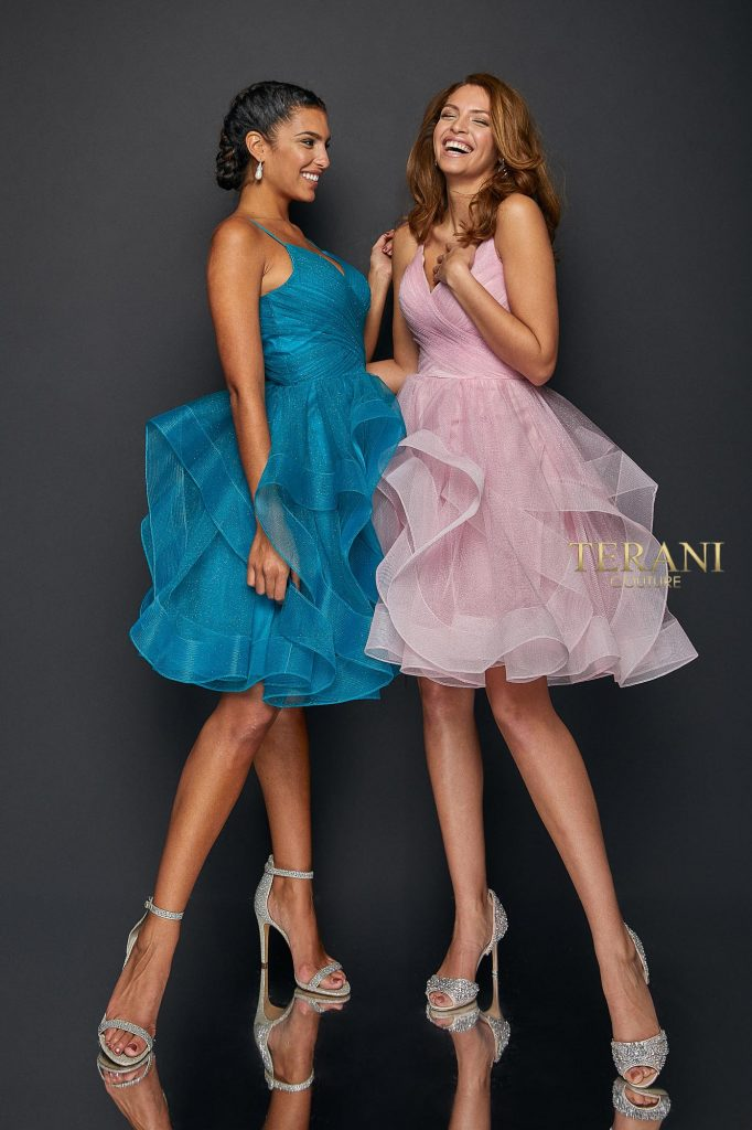 Pleated Bodice and HI\Low Flounce Skirt - 1821H7770