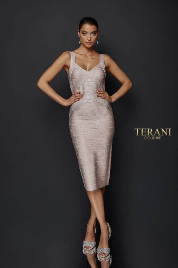 Fitted Two Tone Bandage Dress - 1921C0011