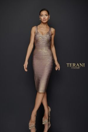 Fitted Two Tone Bandage Dress – 1921C0011