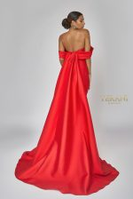 Empress draped off shoulder gown - 1921E0093