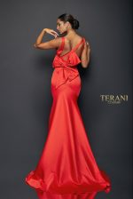 Beautiful Satin Gown with Back Bow - 1921E0100