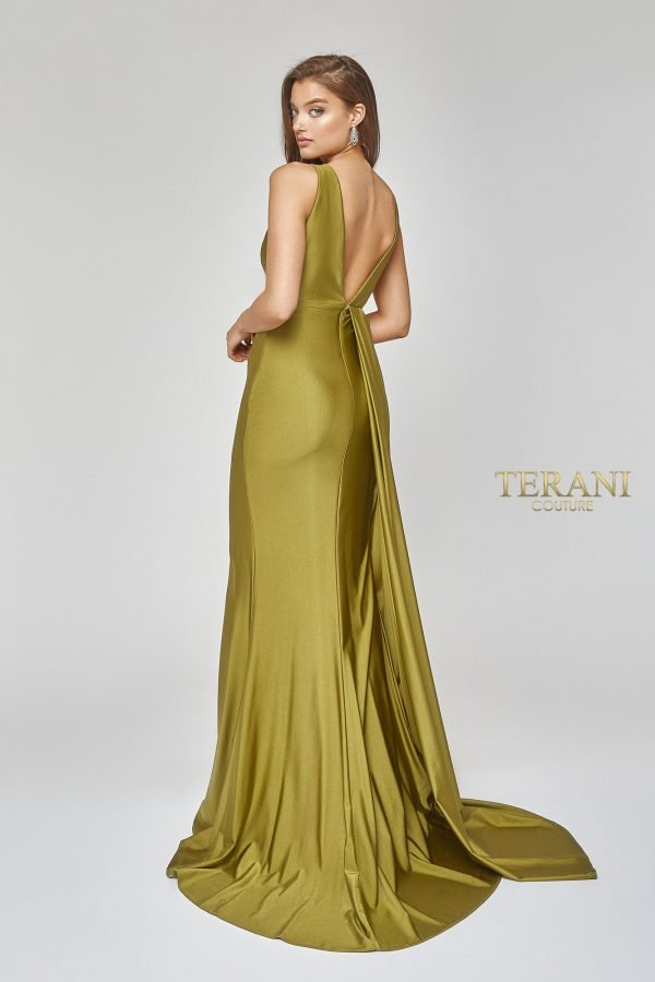 Sexy Side Draped Grecian Gown with Slit - 1921E0121