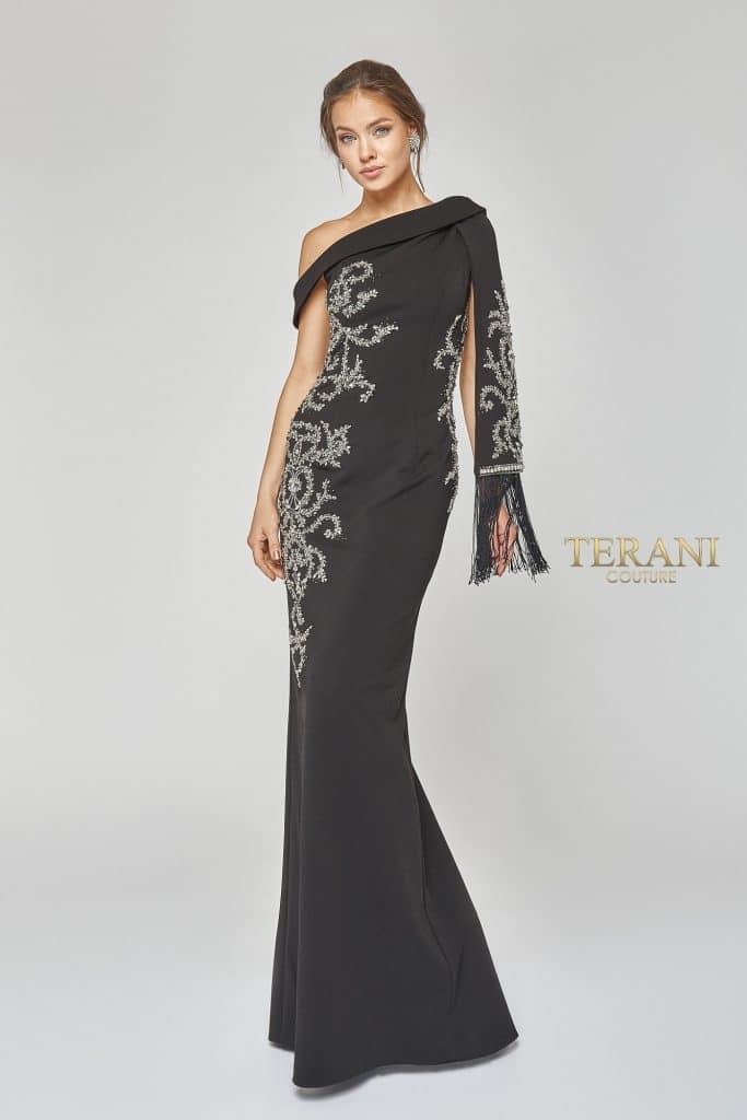 Elegant Asymmetrical off Shoulder Evening Gown - 1921e0169