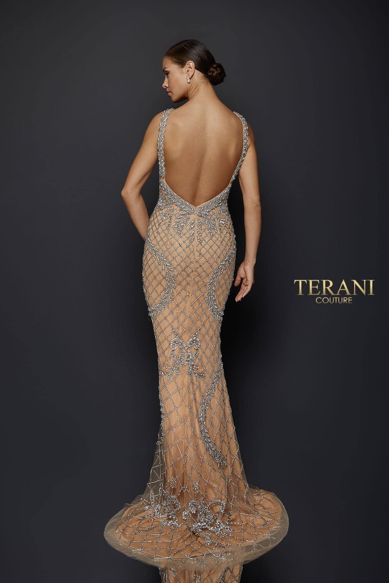 Sexy crystal beaded V neckline gown, 1921GL0609.