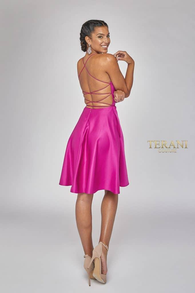 String Tie Back and Sassy Short Skirt - 1921H0324