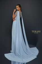 Long Flowing Chiffon Gown with Elaborate Beaded Bodice - 1921M0485