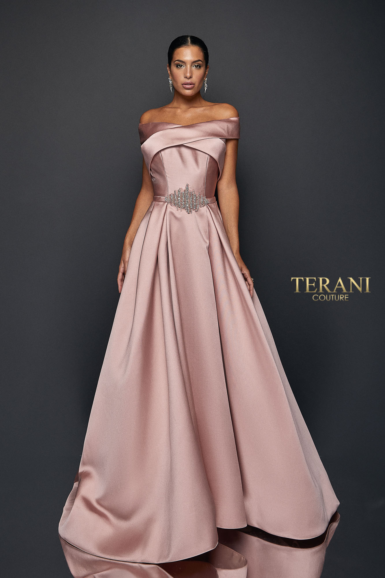 Wrapped Collar Ball Gown 1921m0517