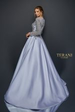Regal long sleeve satin ball gown, 1921M0736.