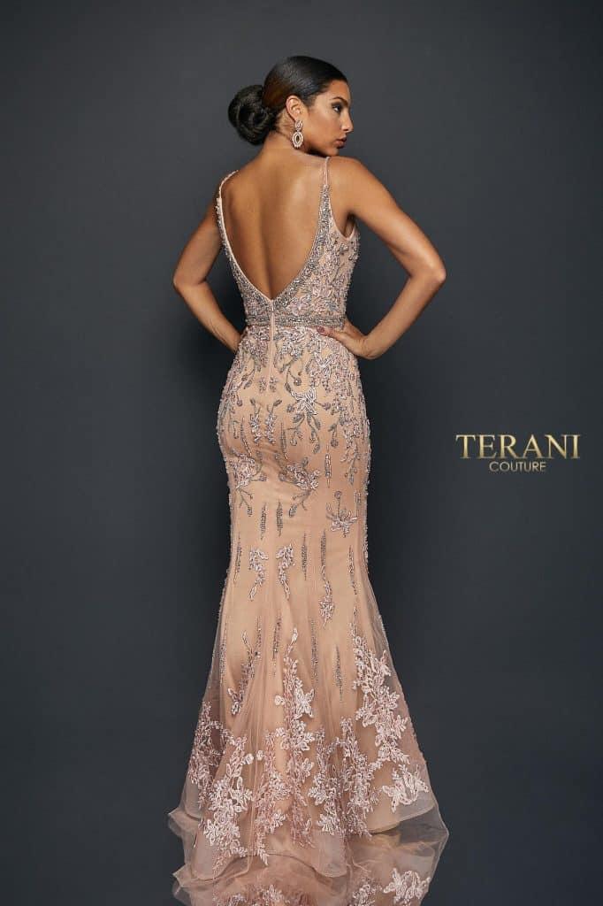 V neck spaghetti strap lace long dress