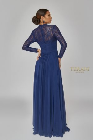 Lace Back Long Sleeve Airy Dress 1923M0597