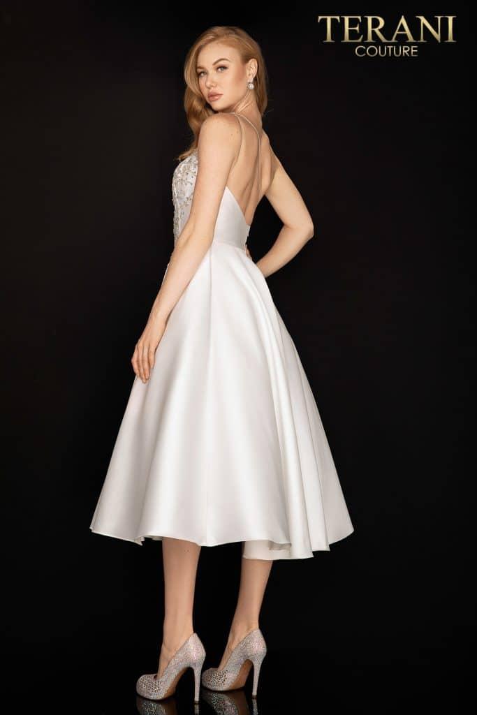 Style: One shoulder asymmetical tea length cocktail dress – 2011C2007