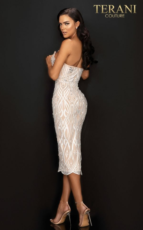 Style: Strapless fitted cocktail dress with embroidery and crystals – 2011C2008