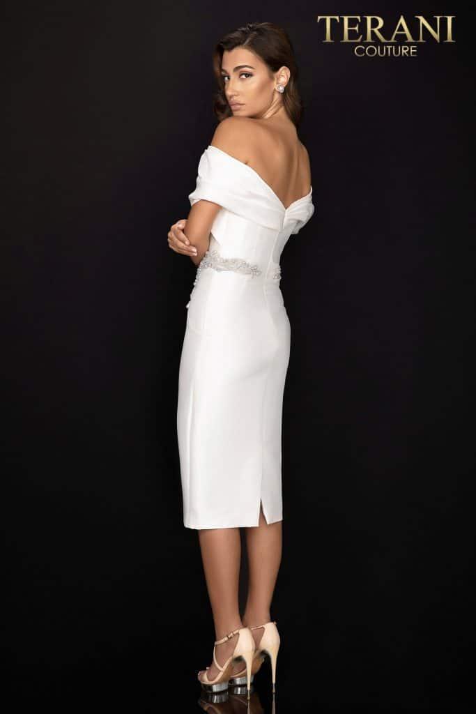 Style: Off shoulder Mikado cocktail dress – 2011C2009