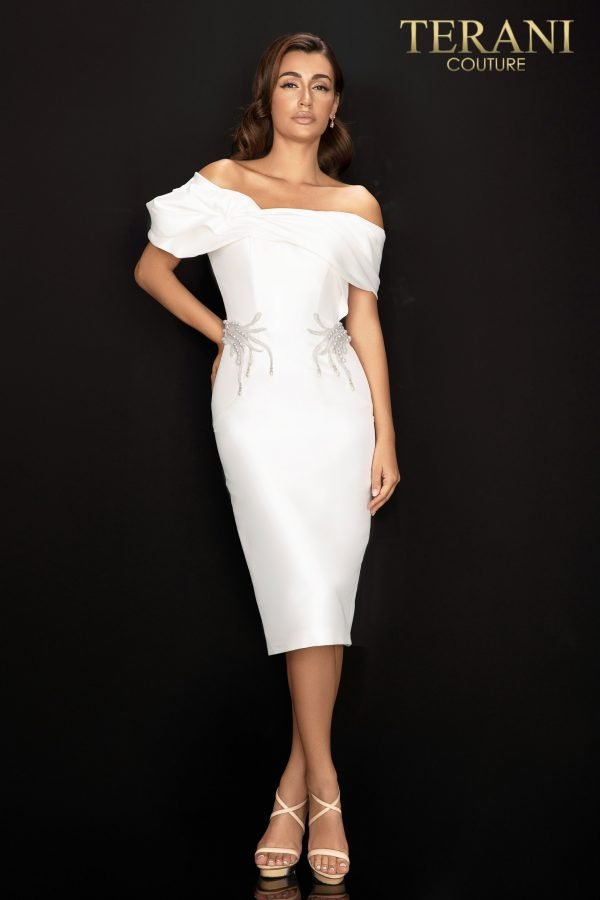 Style: Off shoulder Mikado cocktail dress – 2011C2009