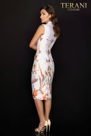 Border print Jacquard cocktail dress  – 2011C2011