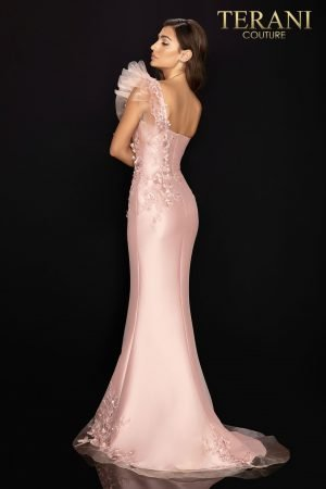 Stretch Mikado one shoulder evening gown – 2011E2094