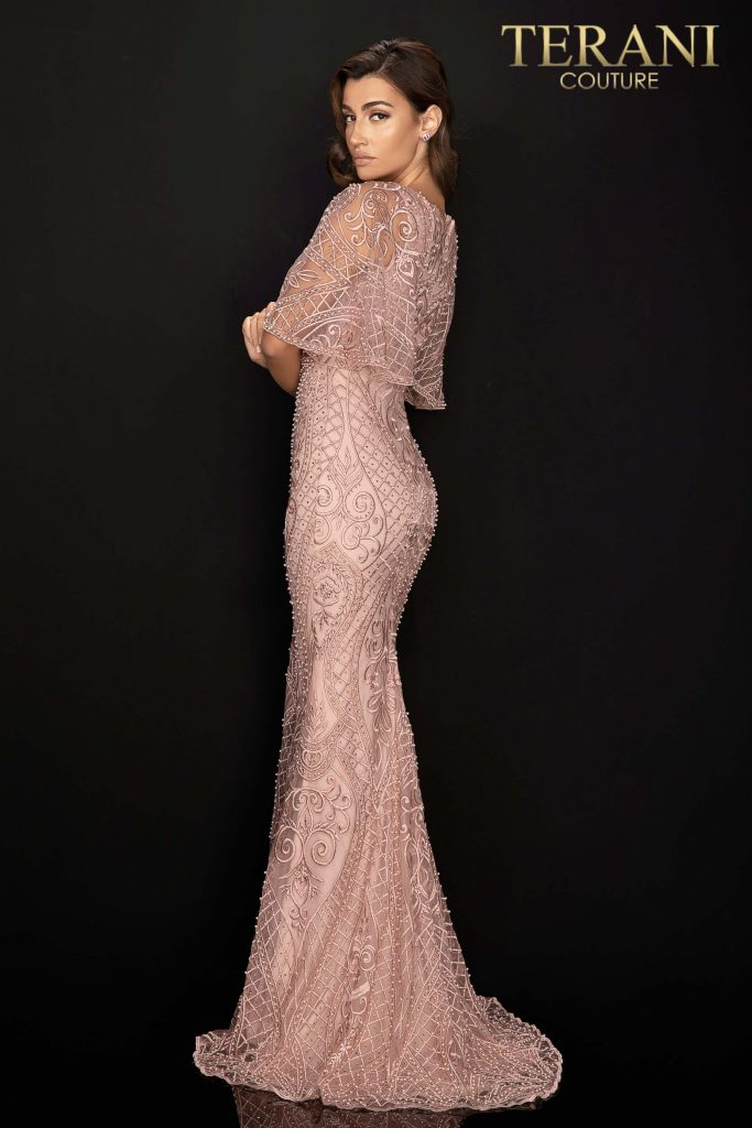 Style: Mother of Bride capelet bead and pearl gown – 2011M2466