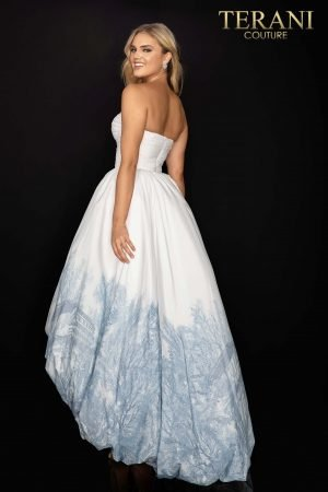 Sweetheart neckline high low bubble skirt prom dress –  2011P1003