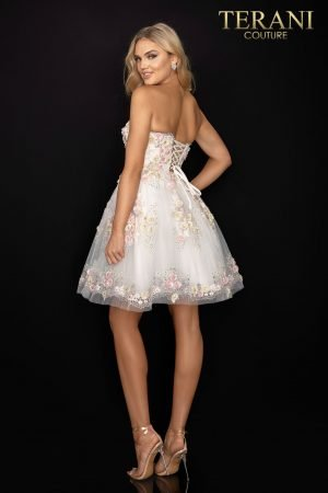 Floral prom sweetheart neckline short ball gown –  2011P1025