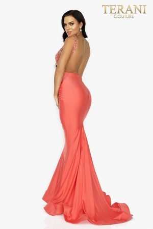Form fitting Jersey long prom dress – 2011P1038